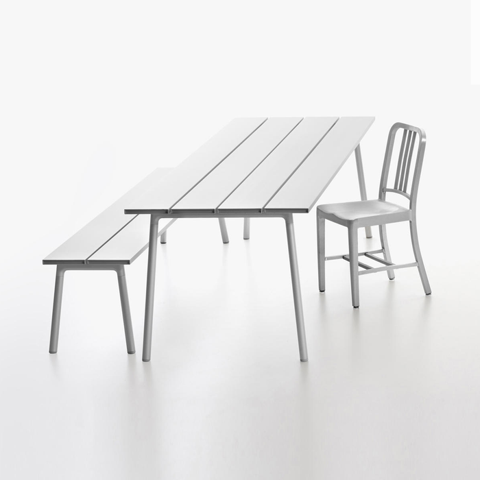 Emeco Run Bench Clear Aluminum Frame 奔馳系列 鋁質 長凳 / 椅凳