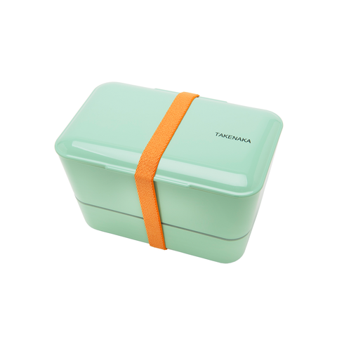 Takenaka Bento Box Expanded Double Secure Band Included 擴展系列 日本 雙層粉彩 便當盒