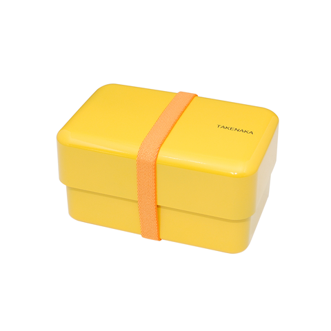 Takenaka Bento Box Rectangle Secure Band Included 方正系列 日本 雙層粉彩 便當盒