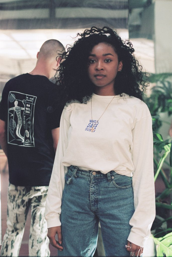 SAFE X Who's Susan Long Sleeve Tee White