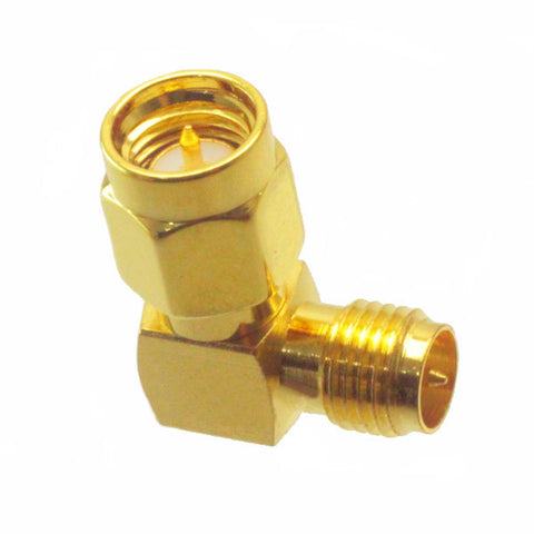 SMA Male to RP-SMA Female Right Angle RF Adapter Connector