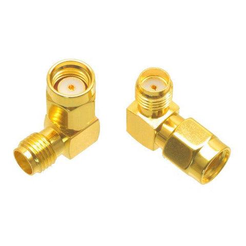 RP-SMA Male to SMA Female 90 degree Adapter