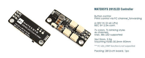 Matek - 2812 LED Controller for FPV Racing Drones