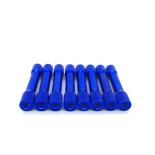 Alu Standoffs M3 30mm Tapered Textured (8 pcs in a bag)