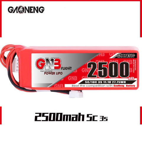 GNB 2500MAH 3S LIPO 11.1V 5C BATTERY FOR FRSKY TARANIS X9D PLUS TRANSMITTER