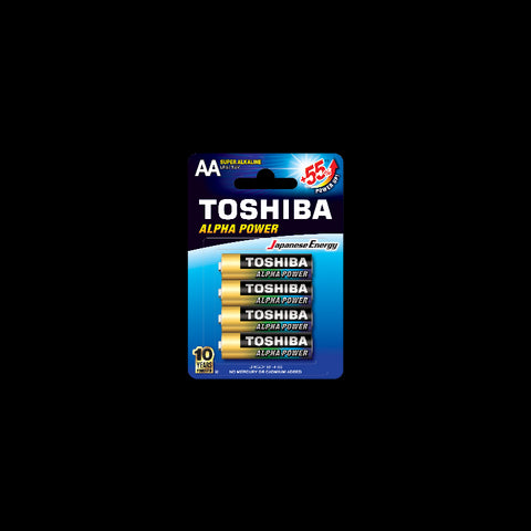 Toshiba Aplha Power AA Alkaline Batteries (4pcs)