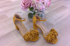 MUSTARD TASSEL DETAILED SHOE