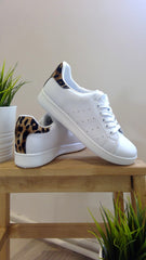 WHITE LEOPARD DETAILED FASHION KICKS