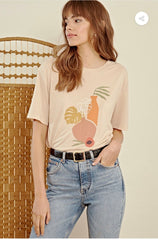 VASE ABSTRACT PRINTED T-SHIRT