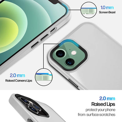 Power Theory Case for iPhone 12 Mini [5.4 inch] with 2 Sets of Exchangeable Aircraft Grade Aluminum Buttons