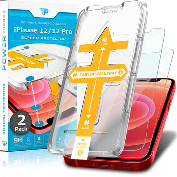 Power Theory Screen Protector for iPhone 12/iPhone 12 Pro [2-Pack]