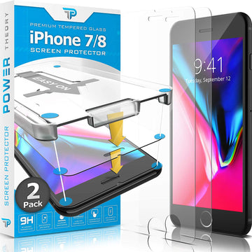 Power Theory iPhone 8 / iPhone 7 Glass Screen Protector