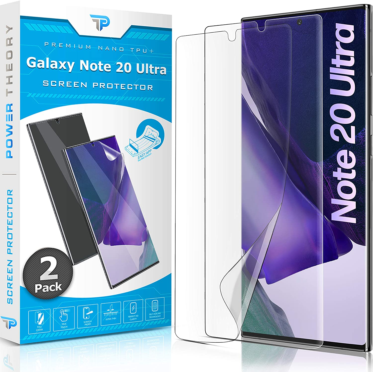 Power Theory Screen Protector Film for Samsung Galaxy Note 20 ULTRA [2-pack]