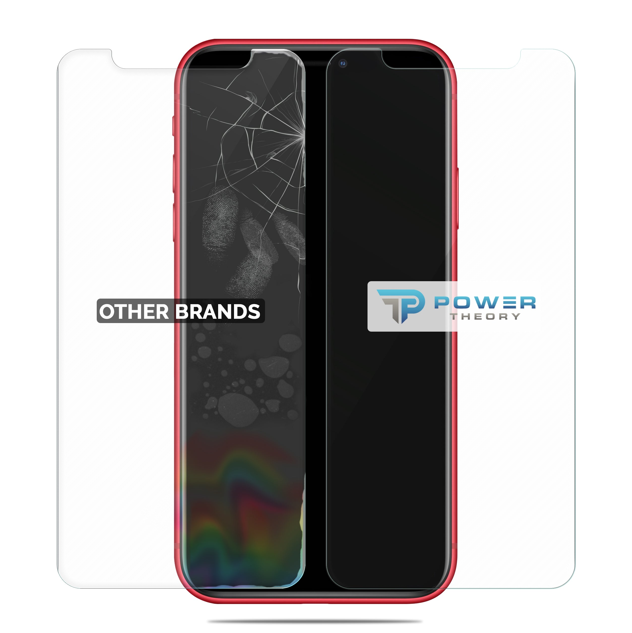 Power Theory iPhone 11/ iPhone XR Glass Screen Protector [2-Pack]