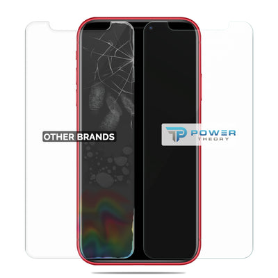 Power Theory iPhone 11/ iPhone XR Glass Screen Protector [2-Pack] with Easy Install Kit [Premium Tempered Glass]