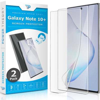 Power Theory Samsung Galaxy Note 10 Plus Nano TPU Screen Protector [2-Pack]