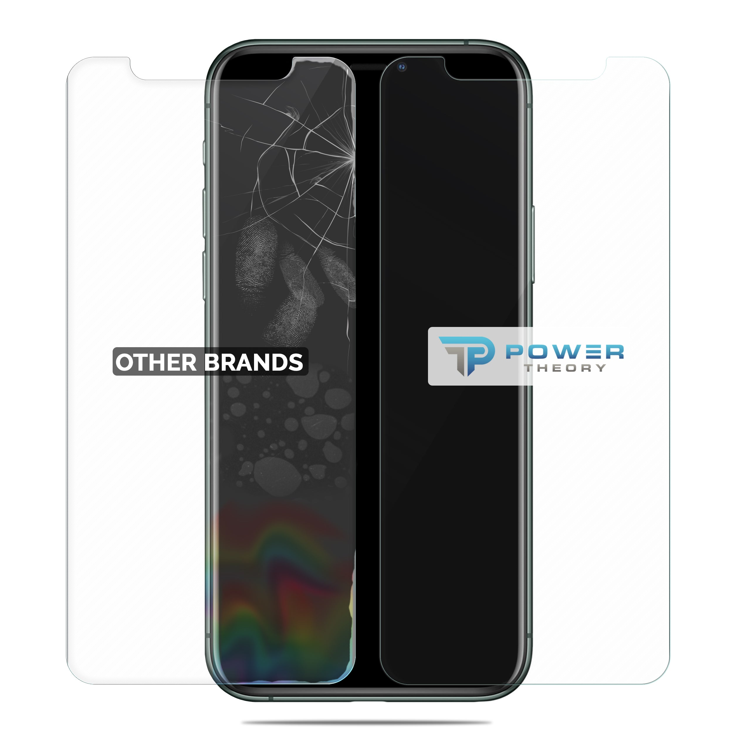 Power Theory iPhone 11 Pro Max Glass Screen Protector [2-Pack]