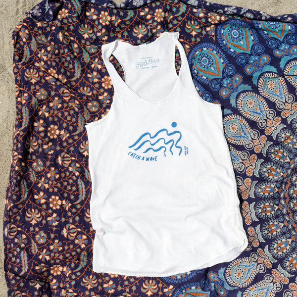 Live Event Leftovers - Catch A Wave - Racerback Tank