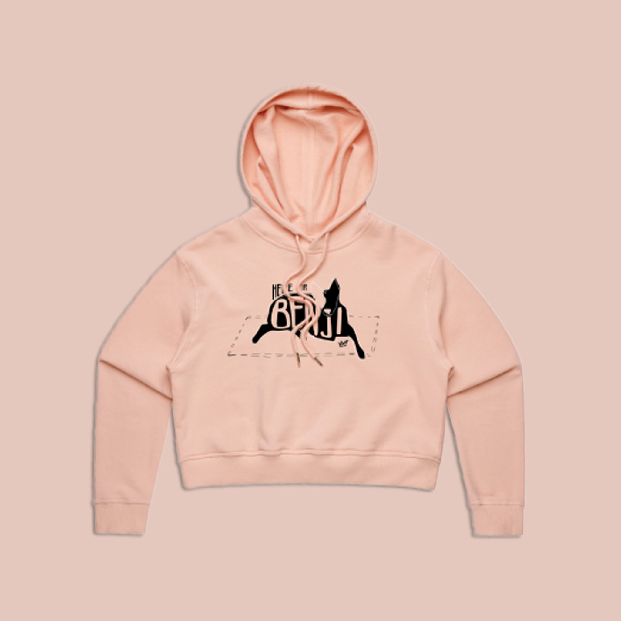 Here For Benji Crop Hoodie