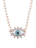 Evil Eye Necklace (Rose Gold)