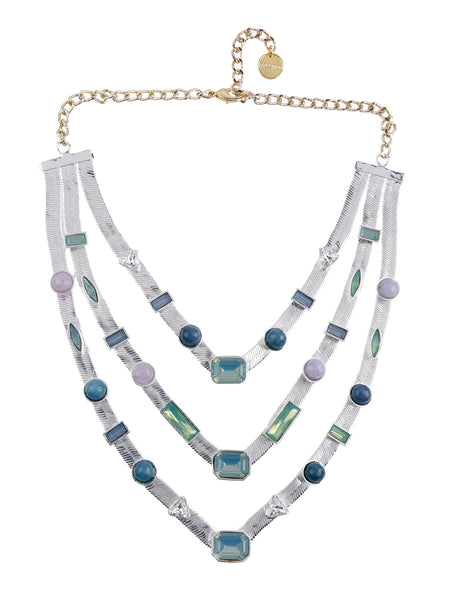 Three Layered Candy Necklace (Silver)