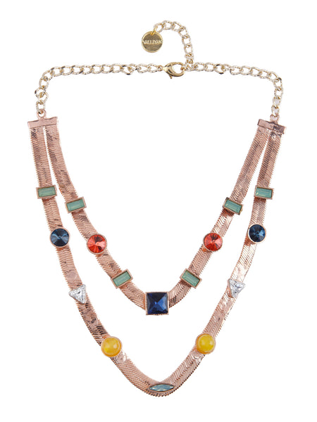 Two Layered Candy Necklace (Rose Gold)