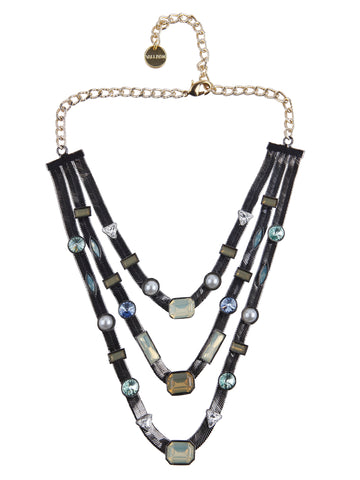 Three Layered Candy Necklace (Gunmetal)