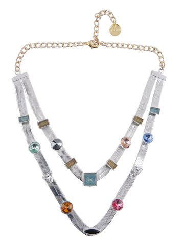 Two Layered Candy Necklace (Silver)