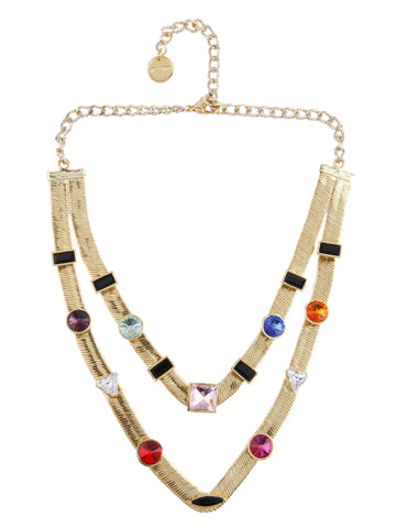 Two Layered Candy Necklace (Gold)