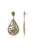 Beaten Teardrop Earrings (Gold)