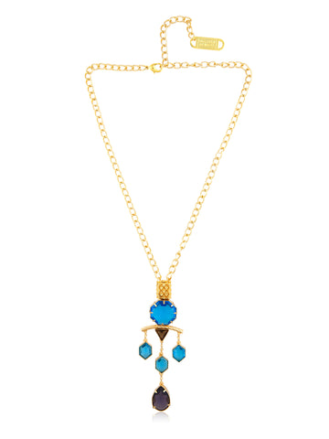 Ocean Drop Medal Necklace