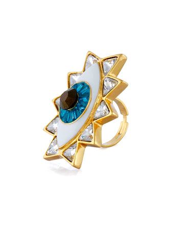 Evil Eye Ring (Gold)