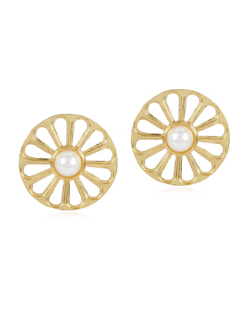 Wheel Earrings (Gold)