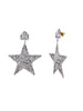 Beaten Star Earrings (Silver)