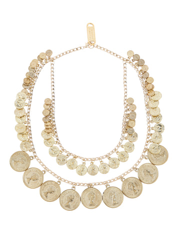 Dual Layer Coin Necklace