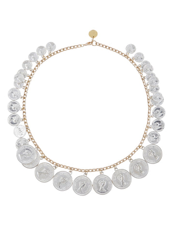 Single Layer Coin Necklace (Silver)