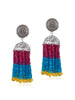 Pink & Blue Jhumka Earrings