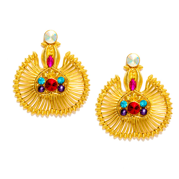 Roshanara Fan Earrings