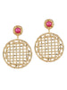 Metal Jaali Earrings