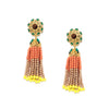 Baruka Bead Tassel Earrings