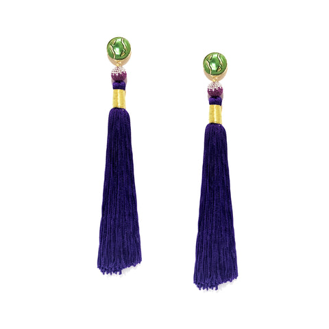 Silk Tassel Earrings 2