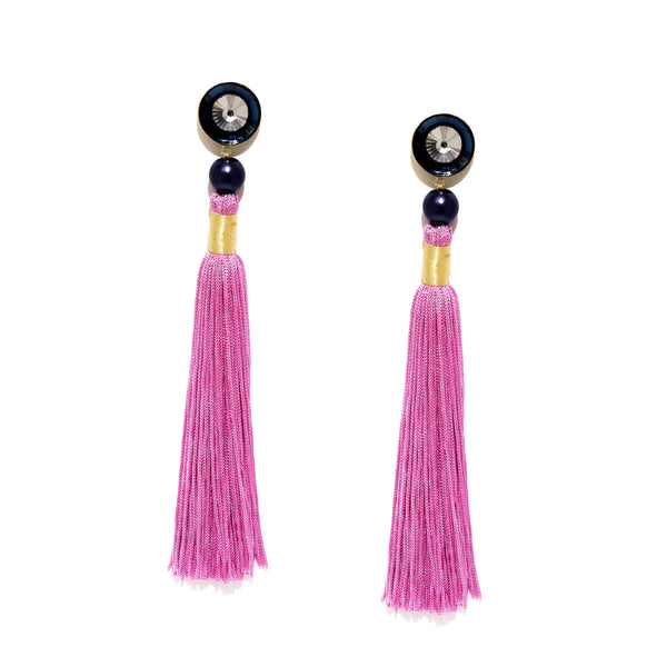 Silk Tassel Earrings 3