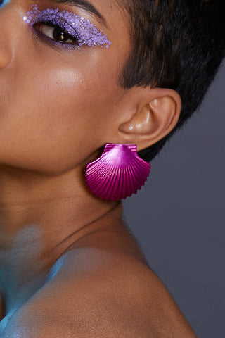 Pink Metallic Shell Earrings
