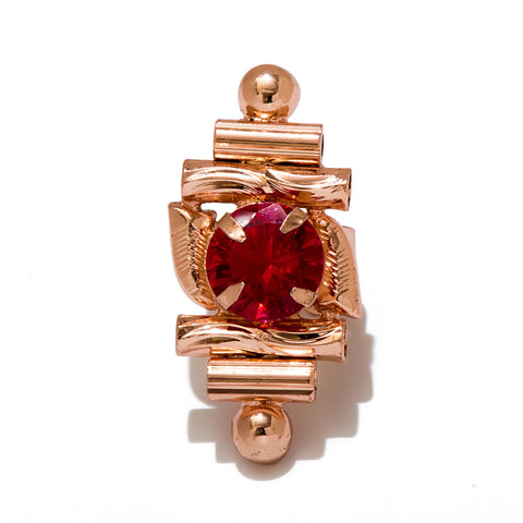 Red Stone Mid Ring