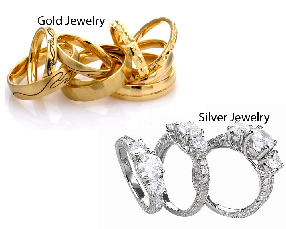 Silver vs Gold Jewelry