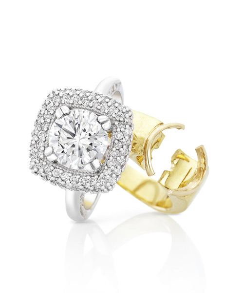 Milgrain Set Diamond Engagement Ring