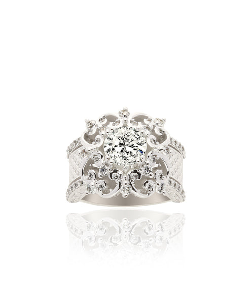 Renaissance Inspired Diamond Ring