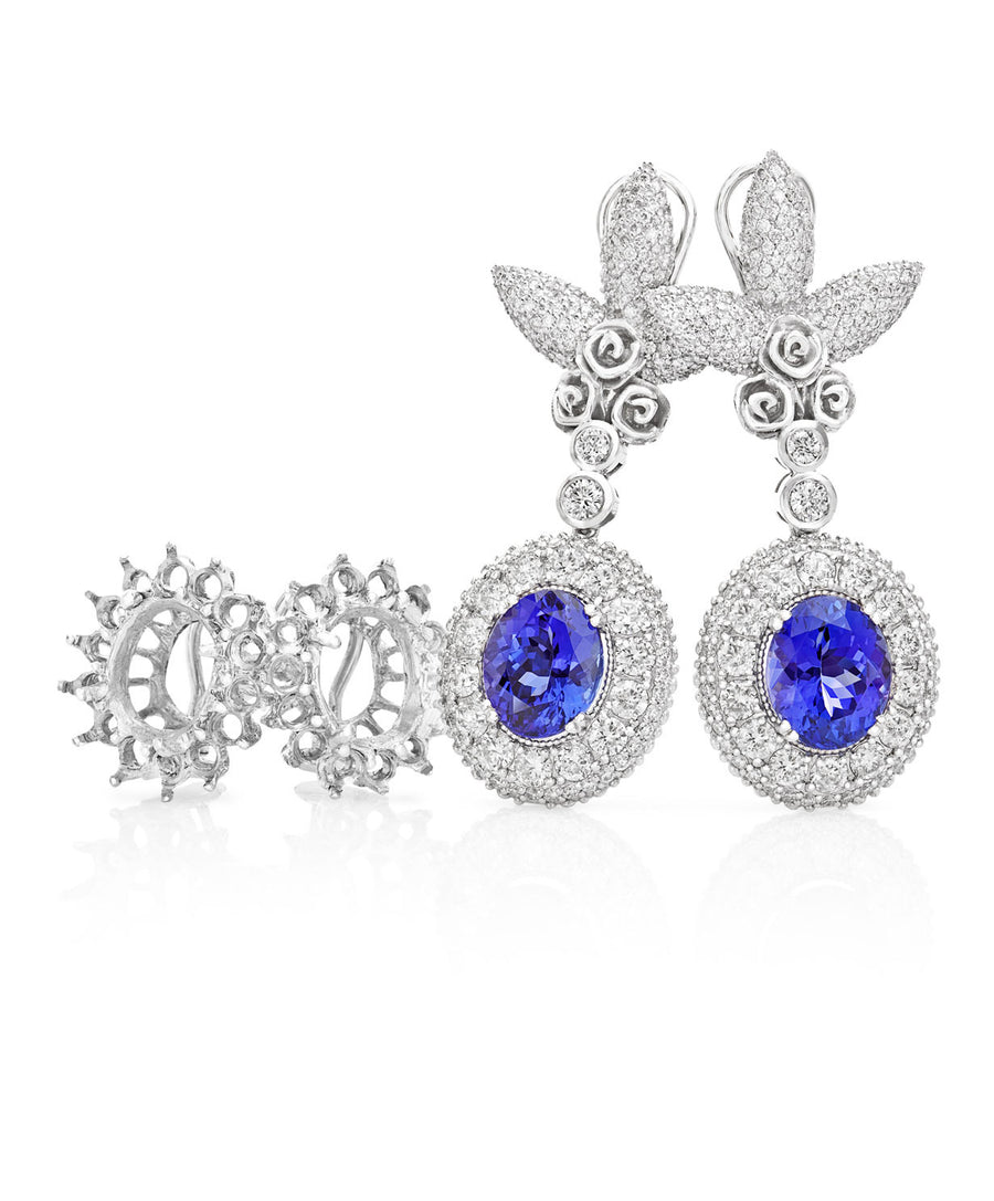 Oval Tanzanite Earrings