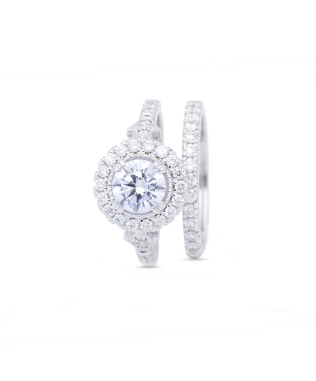 Clarissa Wedding Band & Engagement Ring Set