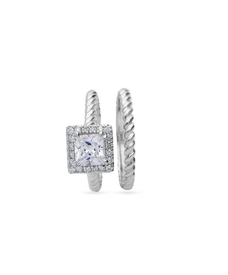 Ronelle Wedding Band & Engagement Ring Set